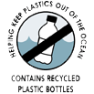 Helping keep plastic out of the ocean - Contains recycled plastic bottles